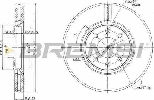 Bremsi CD7106V - Bremžu diski interparts.lv