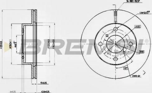 Bremsi CD7117V - Bremžu diski interparts.lv