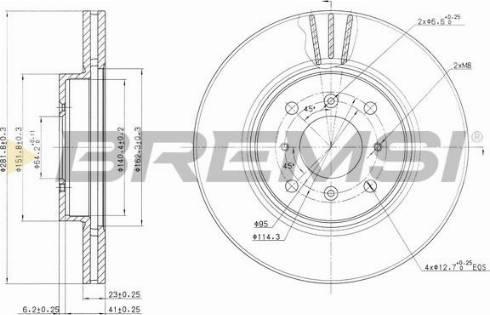 Bremsi CD7189V - Bremžu diski interparts.lv