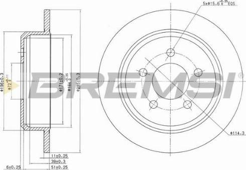 Bremsi CD7186S - Bremžu diski interparts.lv