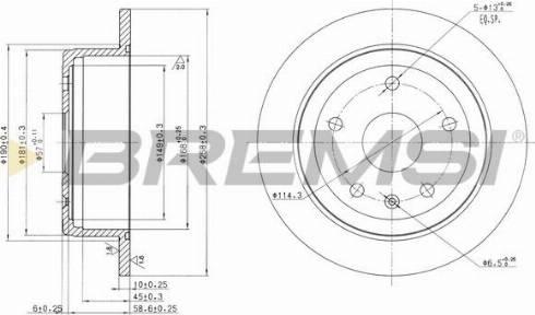 Bremsi CD7188S - Bremžu diski interparts.lv