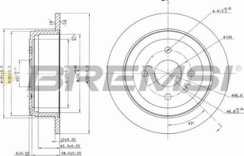 Bremsi CD7187S - Bremžu diski interparts.lv