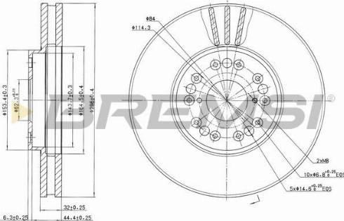 Bremsi CD7134V - Bremžu diski interparts.lv
