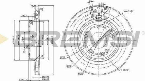 Bremsi CD7135V - Bremžu diski interparts.lv