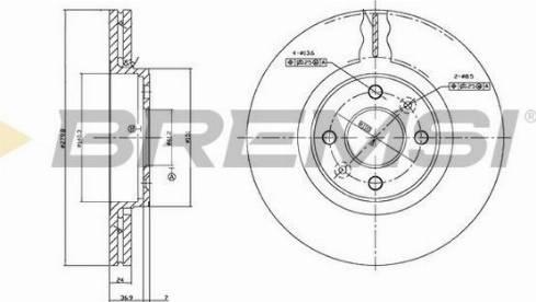 Bremsi CD7124V - Bremžu diski interparts.lv