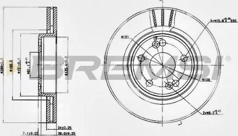 Bremsi CD7123V - Bremžu diski interparts.lv
