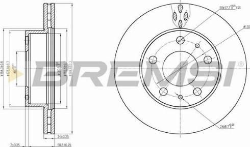 Bremsi CD7171V - Bremžu diski interparts.lv