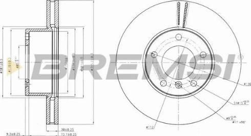 Bremsi CD7891V - Bremžu diski interparts.lv