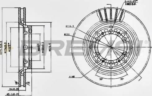 Bremsi CD7892V - Bremžu diski interparts.lv