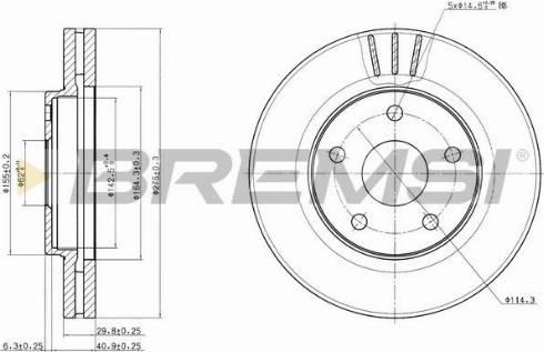 Bremsi CD7859V - Bremžu diski interparts.lv