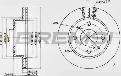 Bremsi CD7858V - Bremžu diski interparts.lv