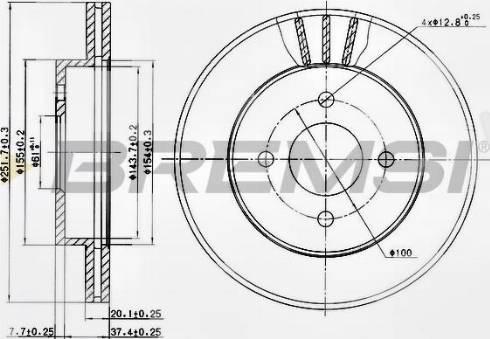 Bremsi CD7885V - Bremžu diski interparts.lv