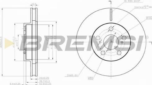 Bremsi CD7882V - Bremžu diski interparts.lv