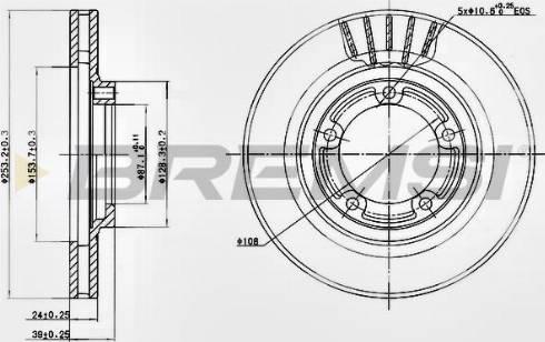 Bremsi CD7822V - Bremžu diski interparts.lv