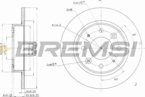 Bremsi CD7395S - Bremžu diski interparts.lv