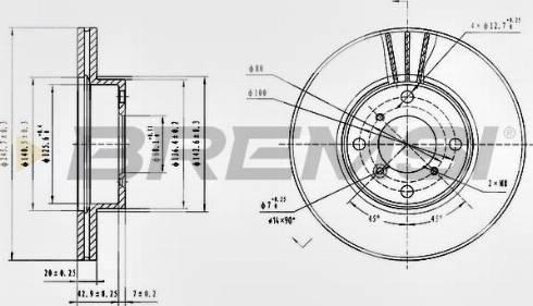 Bremsi CD7396V - Bremžu diski interparts.lv