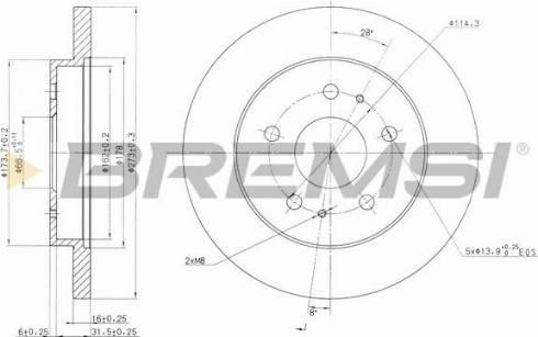 Bremsi CD7387S - Bremžu diski interparts.lv