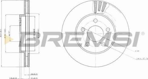 Bremsi CD7376V - Bremžu diski interparts.lv