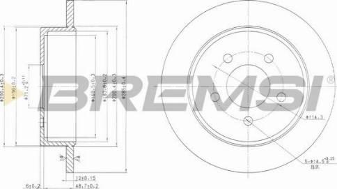 Bremsi CD7378S - Bremžu diski interparts.lv