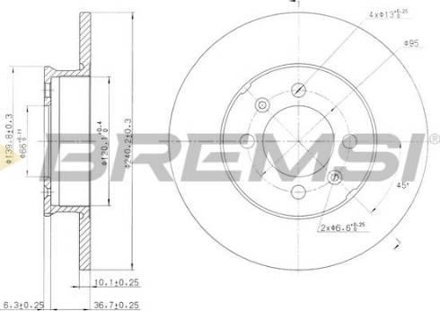 Bremsi CD7373S - Bremžu diski interparts.lv