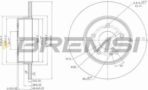 Bremsi CD7251S - Bremžu diski interparts.lv