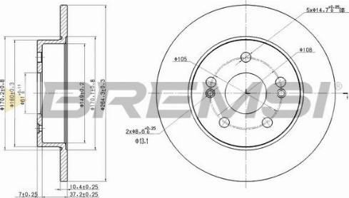 Bremsi CD7213S - Bremžu diski interparts.lv