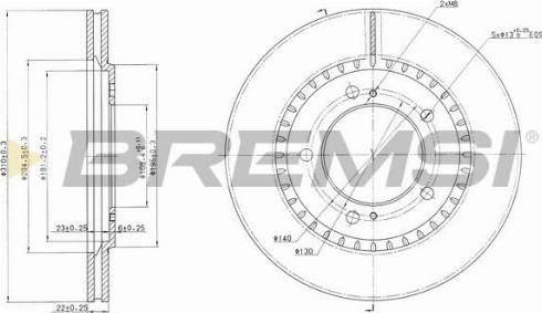 Bremsi CD7282V - Bremžu diski interparts.lv