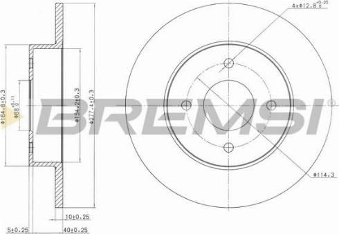 Bremsi CD7235S - Bremžu diski interparts.lv