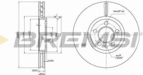 Bremsi CD7221V - Bremžu diski interparts.lv