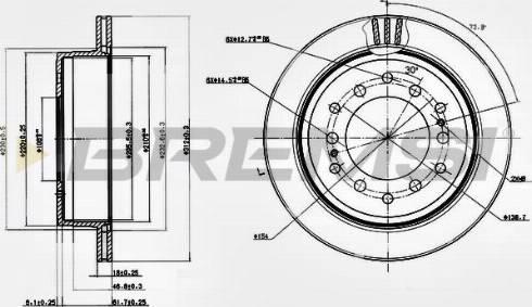 Bremsi CD7743V - Bremžu diski interparts.lv