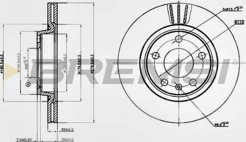 Bremsi CD7708V - Bremžu diski interparts.lv