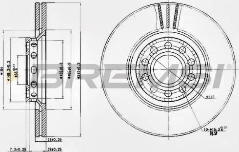 Bremsi CD7707V - Bremžu diski interparts.lv