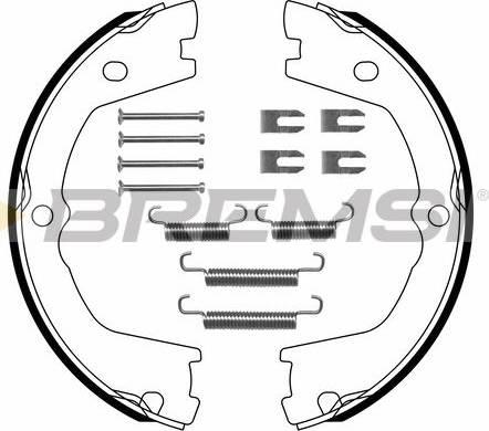 Bremsi GF0142-1 - Bremžu loku kompl., Stāvbremze interparts.lv