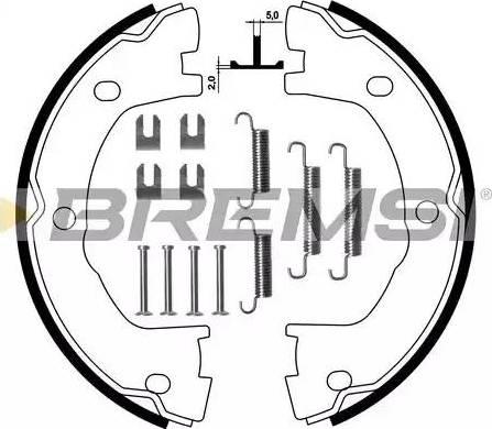 Bremsi GF0183-1 - Bremžu loku kompl., Stāvbremze interparts.lv