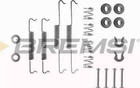 Bremsi SK0522 - Piederumu komplekts, Bremžu loki interparts.lv