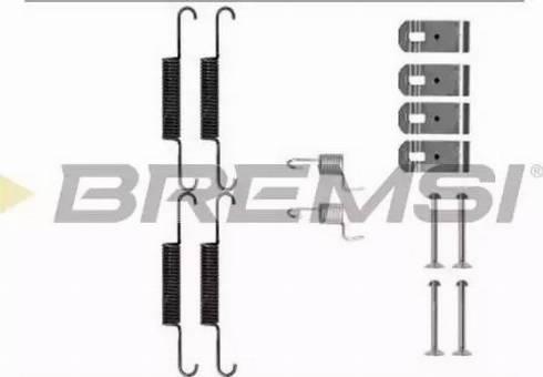 Bremsi SK0895 - Piederumu komplekts, Bremžu loki interparts.lv