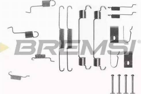 Bremsi SK0742 - Piederumu komplekts, Bremžu loki interparts.lv