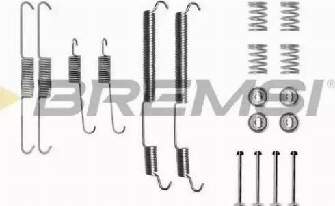Bremsi SK0753 - Piederumu komplekts, Bremžu loki interparts.lv
