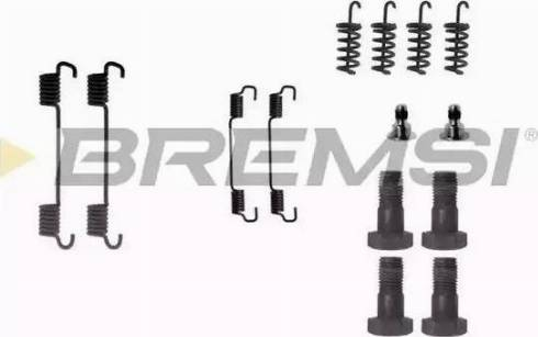 Bremsi SK0716 - Piederumu komplekts, Bremžu loki interparts.lv