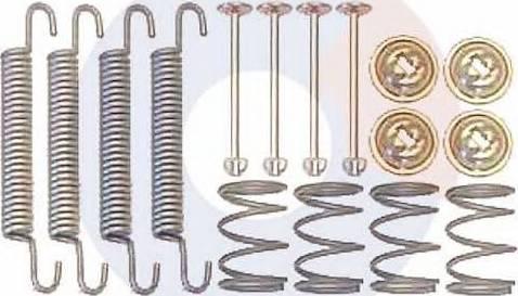 Carrab Brake Parts 3229 - Piederumu komplekts, Stāvbremzes mehānisma bremžu loks interparts.lv