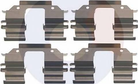 Carrab Brake Parts 2999 - Piederumu komplekts, Disku bremžu uzlikas interparts.lv