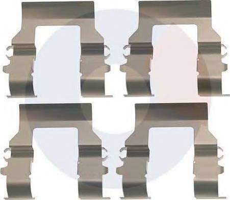 Carrab Brake Parts 2993 - Piederumu komplekts, Disku bremžu uzlikas interparts.lv