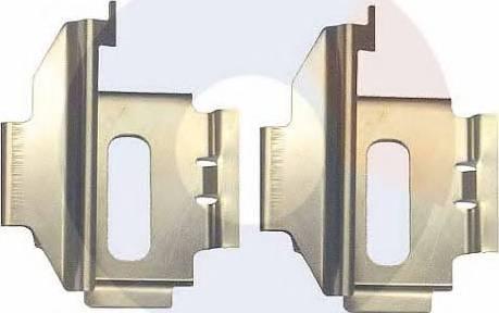 Carrab Brake Parts 2997 - Piederumu komplekts, Disku bremžu uzlikas interparts.lv