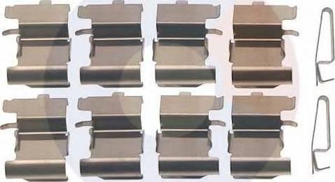 Carrab Brake Parts 2495 - Piederumu komplekts, Disku bremžu uzlikas interparts.lv