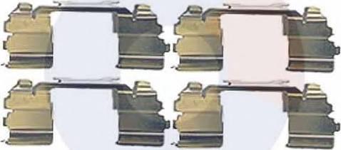 Carrab Brake Parts 2493 - Piederumu komplekts, Disku bremžu uzlikas interparts.lv