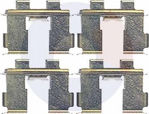 Carrab Brake Parts 2446 - Piederumu komplekts, Disku bremžu uzlikas interparts.lv
