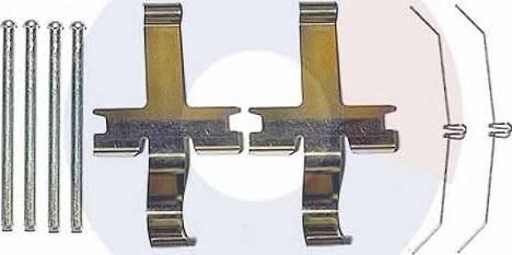 Carrab Brake Parts 2440 - Piederumu komplekts, Disku bremžu uzlikas interparts.lv