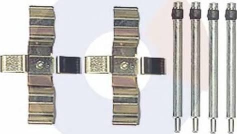 Carrab Brake Parts 2441 - Piederumu komplekts, Disku bremžu uzlikas interparts.lv