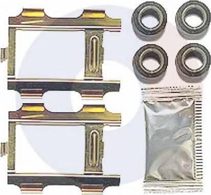 Carrab Brake Parts 2448 - Piederumu komplekts, Disku bremžu uzlikas interparts.lv