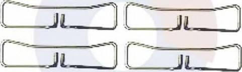 Carrab Brake Parts 2443 - Piederumu komplekts, Disku bremžu uzlikas interparts.lv